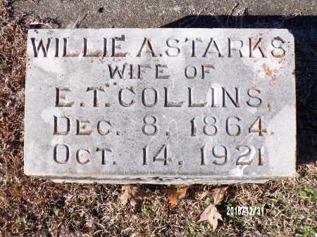 STARKS COLLINS, WILLIE A. - Dallas County, Arkansas | WILLIE A. STARKS COLLINS - Arkansas Gravestone Photos
