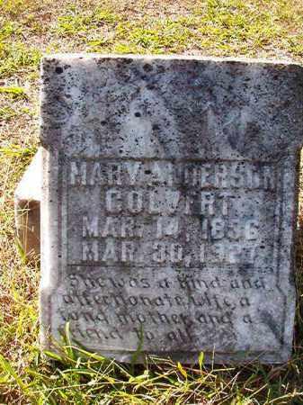 ANDERSON COLVERT, MARY - Dallas County, Arkansas | MARY ANDERSON COLVERT - Arkansas Gravestone Photos