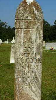 COOK, OLIVE ZOE - Dallas County, Arkansas | OLIVE ZOE COOK - Arkansas Gravestone Photos