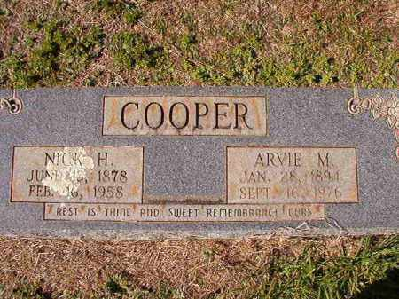 COOPER, NICK H - Dallas County, Arkansas | NICK H COOPER - Arkansas Gravestone Photos