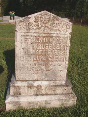 CROSSLEY, E A - Dallas County, Arkansas | E A CROSSLEY - Arkansas Gravestone Photos