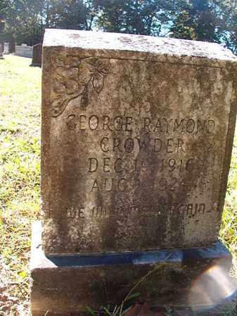 CROWDER, GEORGE RAYMOND - Dallas County, Arkansas   GEORGE RAYMOND CROWDER - Arkansas Gravestone Photos