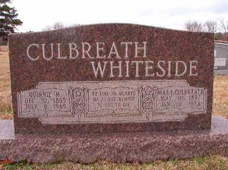 CULBREATH WHITESIDE, MAE E - Dallas County, Arkansas | MAE E CULBREATH WHITESIDE - Arkansas Gravestone Photos