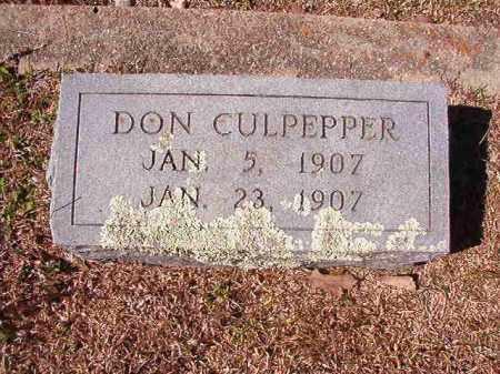 CULPEPPER, DON - Dallas County, Arkansas | DON CULPEPPER - Arkansas Gravestone Photos