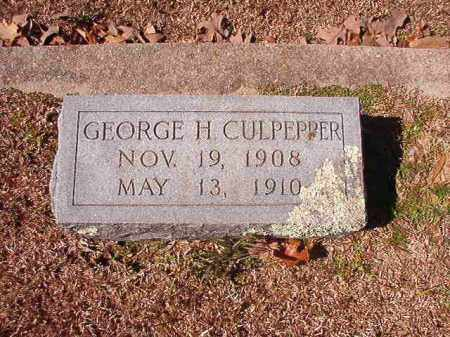 CULPEPPER, GEORGE H - Dallas County, Arkansas | GEORGE H CULPEPPER - Arkansas Gravestone Photos