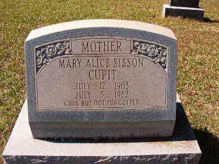 SISSON CUPIT, MARY ALICE - Dallas County, Arkansas | MARY ALICE SISSON CUPIT - Arkansas Gravestone Photos