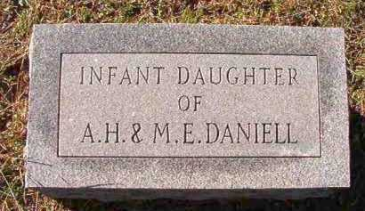 DANIELL, INFANT DAUGHTER - Dallas County, Arkansas | INFANT DAUGHTER DANIELL - Arkansas Gravestone Photos