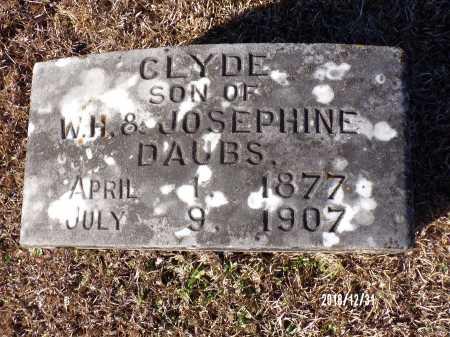 DAUBS, CLYDE - Dallas County, Arkansas   CLYDE DAUBS - Arkansas Gravestone Photos