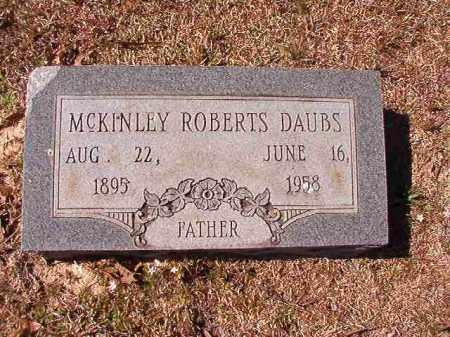 DAUBS, MCKINLEY ROBERTS - Dallas County, Arkansas   MCKINLEY ROBERTS DAUBS - Arkansas Gravestone Photos