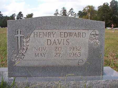 DAVIS, HENRY EDWARD - Dallas County, Arkansas   HENRY EDWARD DAVIS - Arkansas Gravestone Photos