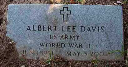 DAVIS (VETERAN WWII), ALBERT LEE - Dallas County, Arkansas | ALBERT LEE DAVIS (VETERAN WWII) - Arkansas Gravestone Photos
