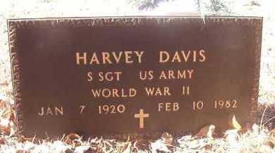 DAVIS (VETERAN WWII), HARVEY - Dallas County, Arkansas   HARVEY DAVIS (VETERAN WWII) - Arkansas Gravestone Photos