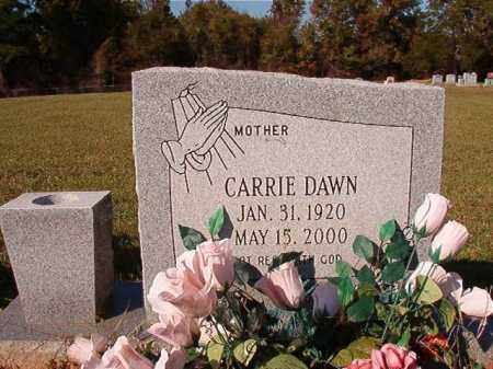 DAWN, CARRIE - Dallas County, Arkansas | CARRIE DAWN - Arkansas Gravestone Photos