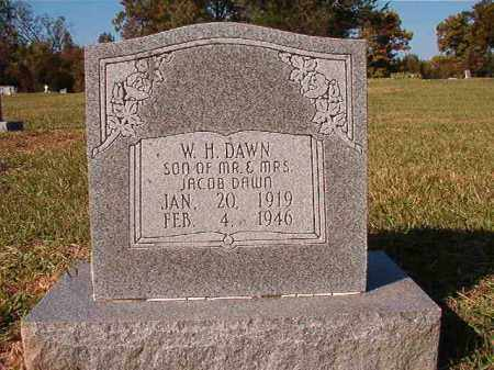 DAWN, W H - Dallas County, Arkansas | W H DAWN - Arkansas Gravestone Photos