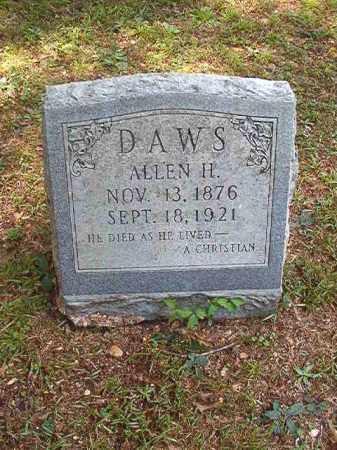 DAWS, ALLEN H - Dallas County, Arkansas | ALLEN H DAWS - Arkansas Gravestone Photos