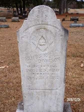 DAWSON, RUFUS V - Dallas County, Arkansas   RUFUS V DAWSON - Arkansas Gravestone Photos