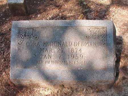 DEDMAN, CORA - Dallas County, Arkansas | CORA DEDMAN - Arkansas Gravestone Photos