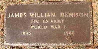 DENISON (VETERAN WWI), JAMES WILLIAM - Dallas County, Arkansas   JAMES WILLIAM DENISON (VETERAN WWI) - Arkansas Gravestone Photos