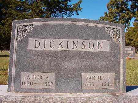 DICKINSON, ALBERTA - Dallas County, Arkansas | ALBERTA DICKINSON - Arkansas Gravestone Photos