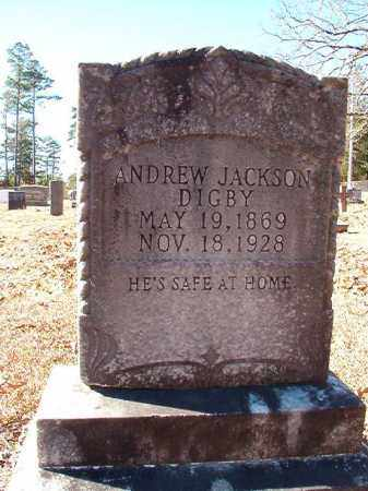 DIGBY, ANDREW JACKSON - Dallas County, Arkansas | ANDREW JACKSON DIGBY - Arkansas Gravestone Photos