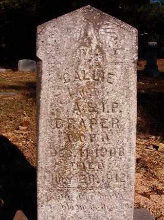DRAPER, CALLIE - Dallas County, Arkansas | CALLIE DRAPER - Arkansas Gravestone Photos