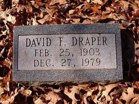 DRAPER, DAVID F - Dallas County, Arkansas | DAVID F DRAPER - Arkansas Gravestone Photos