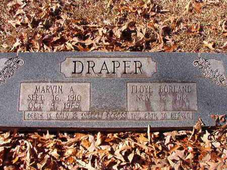 DRAPER, MARVIN A - Dallas County, Arkansas | MARVIN A DRAPER - Arkansas Gravestone Photos