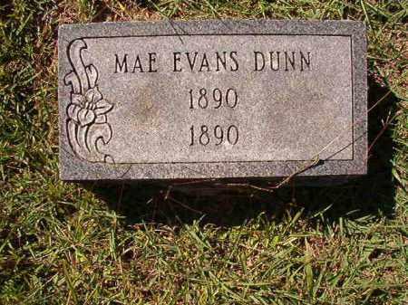 DUNN, MAE EVANS - Dallas County, Arkansas   MAE EVANS DUNN - Arkansas Gravestone Photos