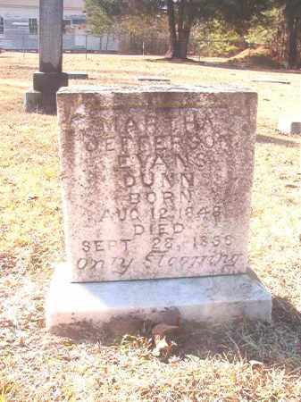EVANS DUNN, MARTHA JEFFERSON - Dallas County, Arkansas   MARTHA JEFFERSON EVANS DUNN - Arkansas Gravestone Photos