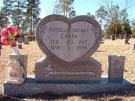 DICKEY EAKIN, NOVELLE - Dallas County, Arkansas | NOVELLE DICKEY EAKIN - Arkansas Gravestone Photos