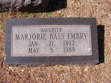 BASS EMBRY, MARJORIE - Dallas County, Arkansas | MARJORIE BASS EMBRY - Arkansas Gravestone Photos