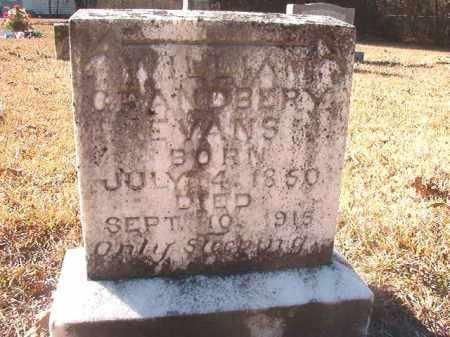 EVANS, WILLIAM GRANDBERY - Dallas County, Arkansas | WILLIAM GRANDBERY EVANS - Arkansas Gravestone Photos