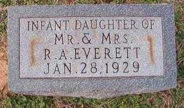 EVERETT, INFANT DAUGHTER - Dallas County, Arkansas   INFANT DAUGHTER EVERETT - Arkansas Gravestone Photos