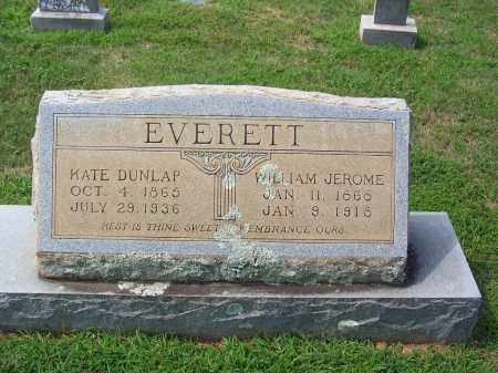 DUNLAP EVERETT, KATE - Dallas County, Arkansas | KATE DUNLAP EVERETT - Arkansas Gravestone Photos