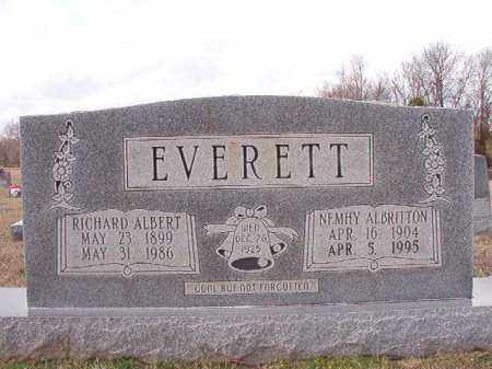 ALBRITTON EVERETT, NEMHY - Dallas County, Arkansas | NEMHY ALBRITTON EVERETT - Arkansas Gravestone Photos