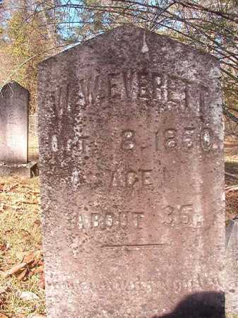 EVERETT, W W - Dallas County, Arkansas | W W EVERETT - Arkansas Gravestone Photos