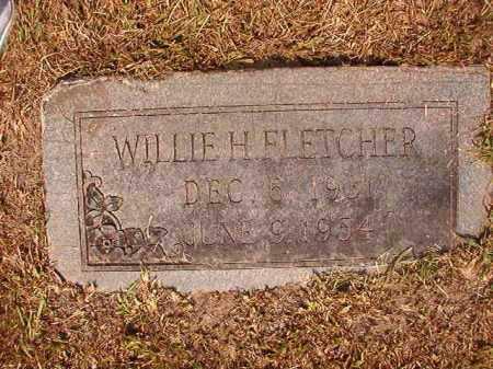 FLETCHER, WILLIE H - Dallas County, Arkansas | WILLIE H FLETCHER - Arkansas Gravestone Photos