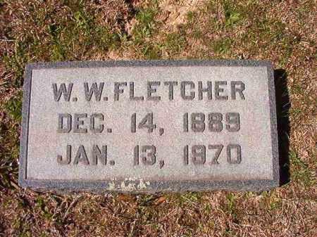 FLETCHER, W W - Dallas County, Arkansas   W W FLETCHER - Arkansas Gravestone Photos