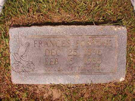 FORTUNE, FRANCES - Dallas County, Arkansas | FRANCES FORTUNE - Arkansas Gravestone Photos