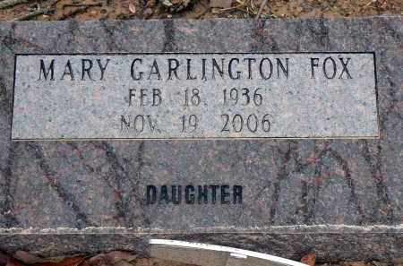 FOX, MARY - Dallas County, Arkansas | MARY FOX - Arkansas Gravestone Photos