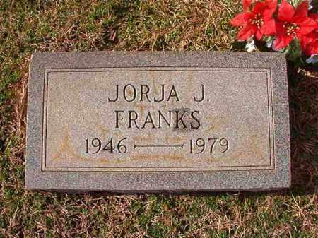 FRANKS, JORJA J - Dallas County, Arkansas | JORJA J FRANKS - Arkansas Gravestone Photos