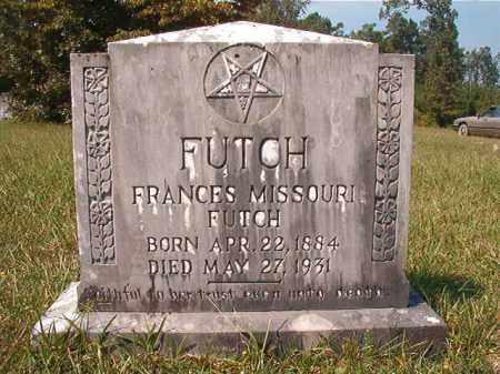 FUTCH, FRANCES MISSOURI - Dallas County, Arkansas | FRANCES MISSOURI FUTCH - Arkansas Gravestone Photos