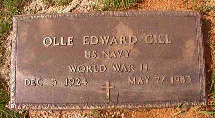 GILL (VETERAN WWII), OLLE EDWARD - Dallas County, Arkansas | OLLE EDWARD GILL (VETERAN WWII) - Arkansas Gravestone Photos