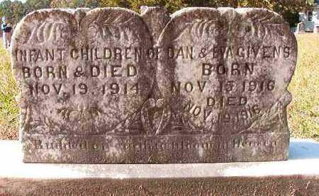 GIVENS, INFANT - Dallas County, Arkansas | INFANT GIVENS - Arkansas Gravestone Photos