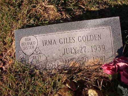 GOLDEN, IRMA - Dallas County, Arkansas   IRMA GOLDEN - Arkansas Gravestone Photos