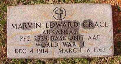 GRACE (VETERAN WWII), MARVIN EDWARD - Dallas County, Arkansas | MARVIN EDWARD GRACE (VETERAN WWII) - Arkansas Gravestone Photos