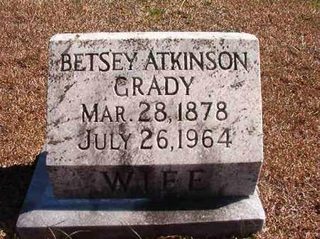 ATKINSON GRADY, BETSEY - Dallas County, Arkansas   BETSEY ATKINSON GRADY - Arkansas Gravestone Photos