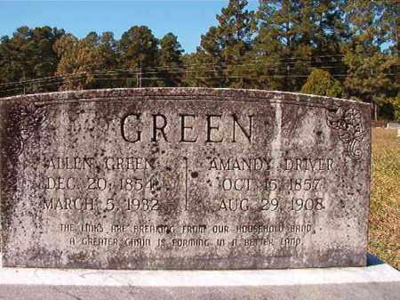 DRIVER GREEN, AMANDY - Dallas County, Arkansas | AMANDY DRIVER GREEN - Arkansas Gravestone Photos