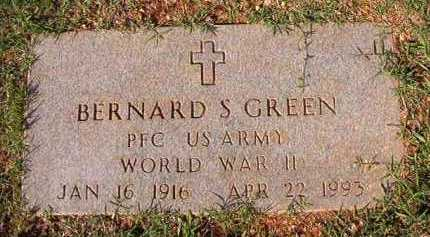 GREEN (VETERAN WWII), BERNARD S - Dallas County, Arkansas | BERNARD S GREEN (VETERAN WWII) - Arkansas Gravestone Photos