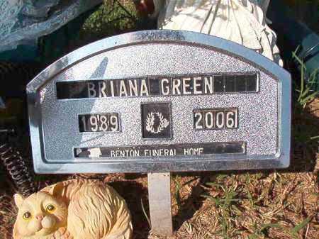 GREEN, BRIANA - Dallas County, Arkansas | BRIANA GREEN - Arkansas Gravestone Photos